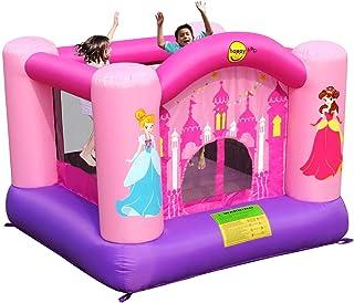 Happy Hop Pink Princess Bouncy Castle and Slide