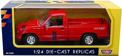 garantizado Motormax 1992 Chevy 454 SS SS SS Pickup Truck 1 24 Scale Diecast Model Car rojo by Motormax  Vuelta de 10 dias