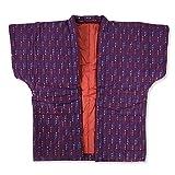 婦人やっこ 袖なし半天 紫 はんてん 久留米手づくり 7530 袢纏 半纏 ポンチョ 綿入り