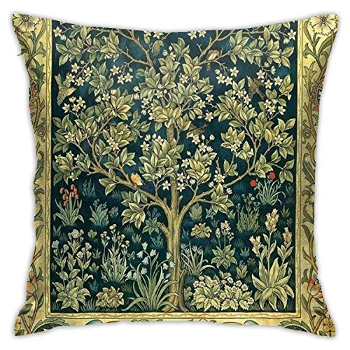 YPPDPP Tree of Life by William Morris Square Pillow cases throw pillow cover Home Bed Room Interior Decoration