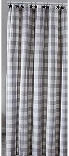 Park Designs Wicklow Dove Gray, Winter White Check Fabric Shower Curtain