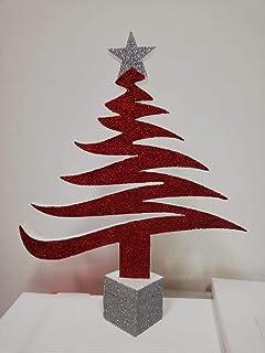Alberello di Natale in Polistirolo HD glitterato misura 30 x 38 con base quadrata