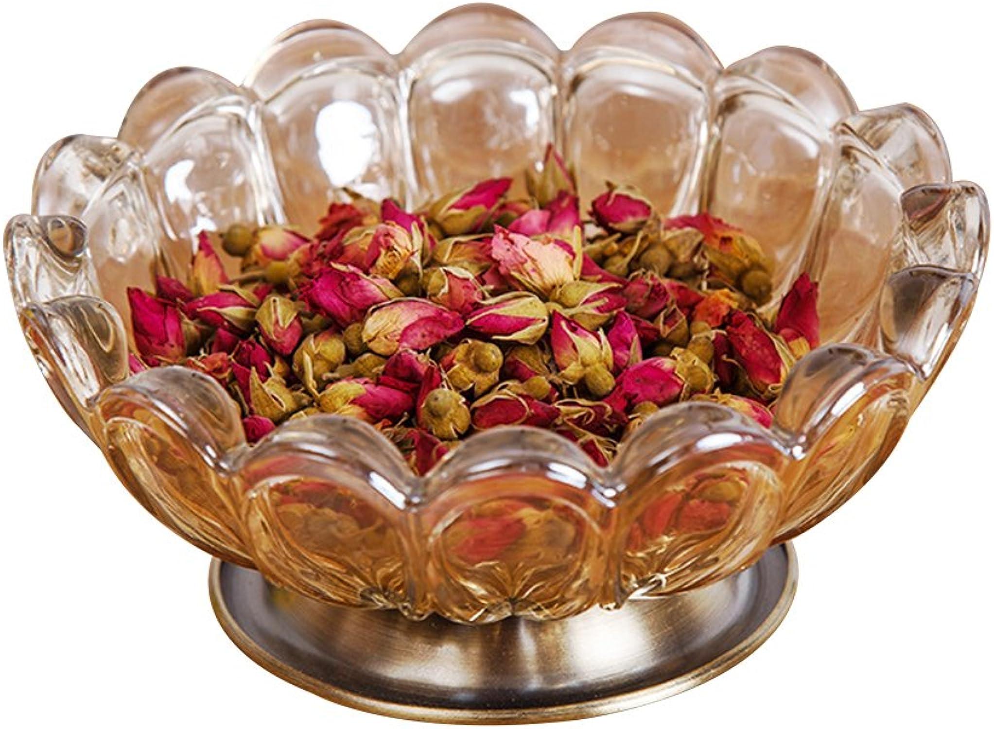 Verre Assiettes à fruits plaque de verre cristal Verre Clair Saladier Convient pour fruits, noix, desserts Cendrier