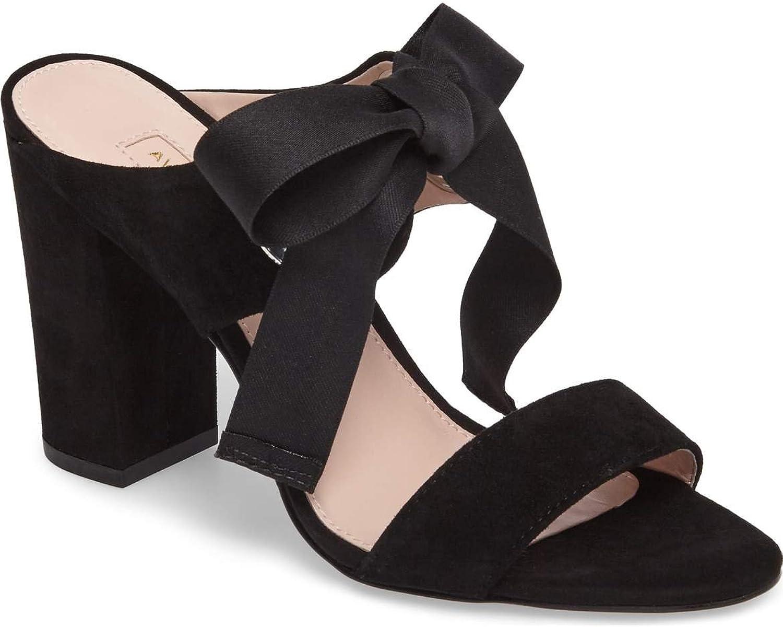Avec Les Filles Womens Megan Suede Bow Dress Sandals