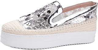 ELEEMEE Women Fashion Sneaker Flatform Slip On Summer Shoes
