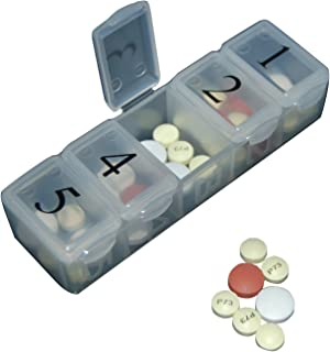e-Pill | 5 X Per Day Pillbox | Organize and Dispense All Your Pills up to Five Times per Day