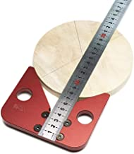 Center Scribe, Pstarts Aluminum Alloy Center Finder, 45 Degrees Angle Woodworking Line Caliber Marking Gauge Ruler Wood Measuring Tool, Removable and Replaceable Ruler