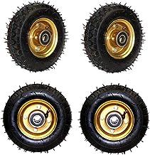 Zwenkwielen (4 stuks) 6 inch 8 inch 10 inch pompen luchtband dempen rubberen handduw plat tijger trekwiel