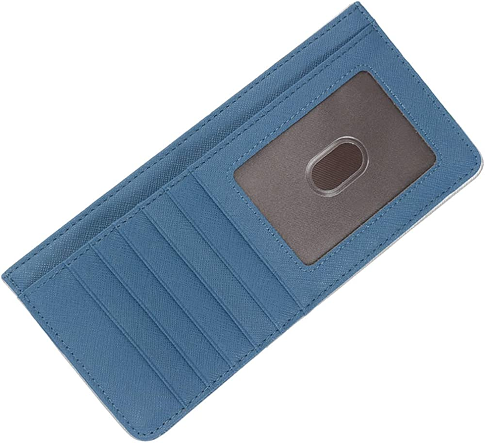 Women's Credit Card Wallet Slim Long Card Wallet Holder with Zipper Pocket for Cash, Coin, Receipt, ID Card