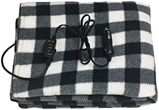 Electric Heating Blanket for Vehicles 12 Volt Travel Throw for Car|Winter Hot Car Constant Temperature Heating Blanket for Travel Camping Picnic (Plaid)