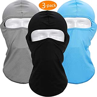 ZONLY 3Pack Balaclava Ski Face Mask for Women Men, Headwear Neck Warmer for Skiing,Cycling,Motorcycle,Hiking,Outdoor Sports, Lycra Fabrics UV Protection Tactical Balaclava