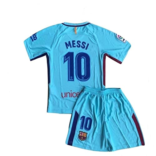 ccb5f0718 Iqrrn Messi  10 Barcelona 3rd Away Jersey   Shorts for Kids and Youth Blue