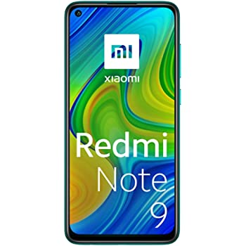 "Xiaomi Redmi Note 9 -Smartphone 6.53"" FHD+ DotDisplay (4GB RAM, 128GB ROM, Quad Camera , 5020mah Batteria, NFC) 2020 [Versione Italiana] - Colore Forest Green"