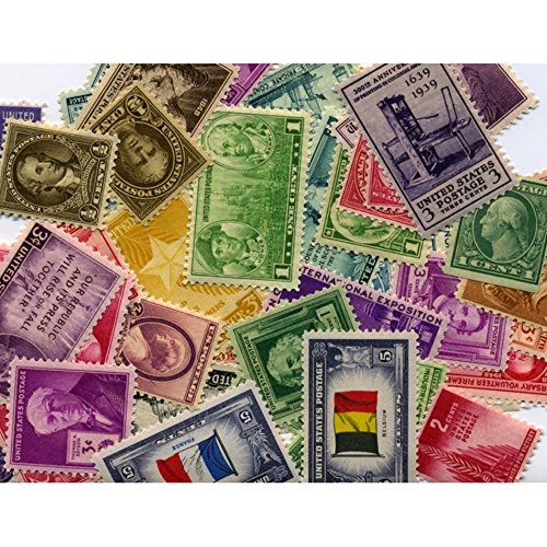 American Coin Treasures 40 U.S. Postage Stamps from The 1910's, 1920's, 1930's and 1940's