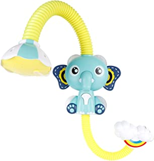 kelebin Elephant Baby Bath Shower Head Elephant Water Pumps and Trunk Spout Rinser for Newborn Babies