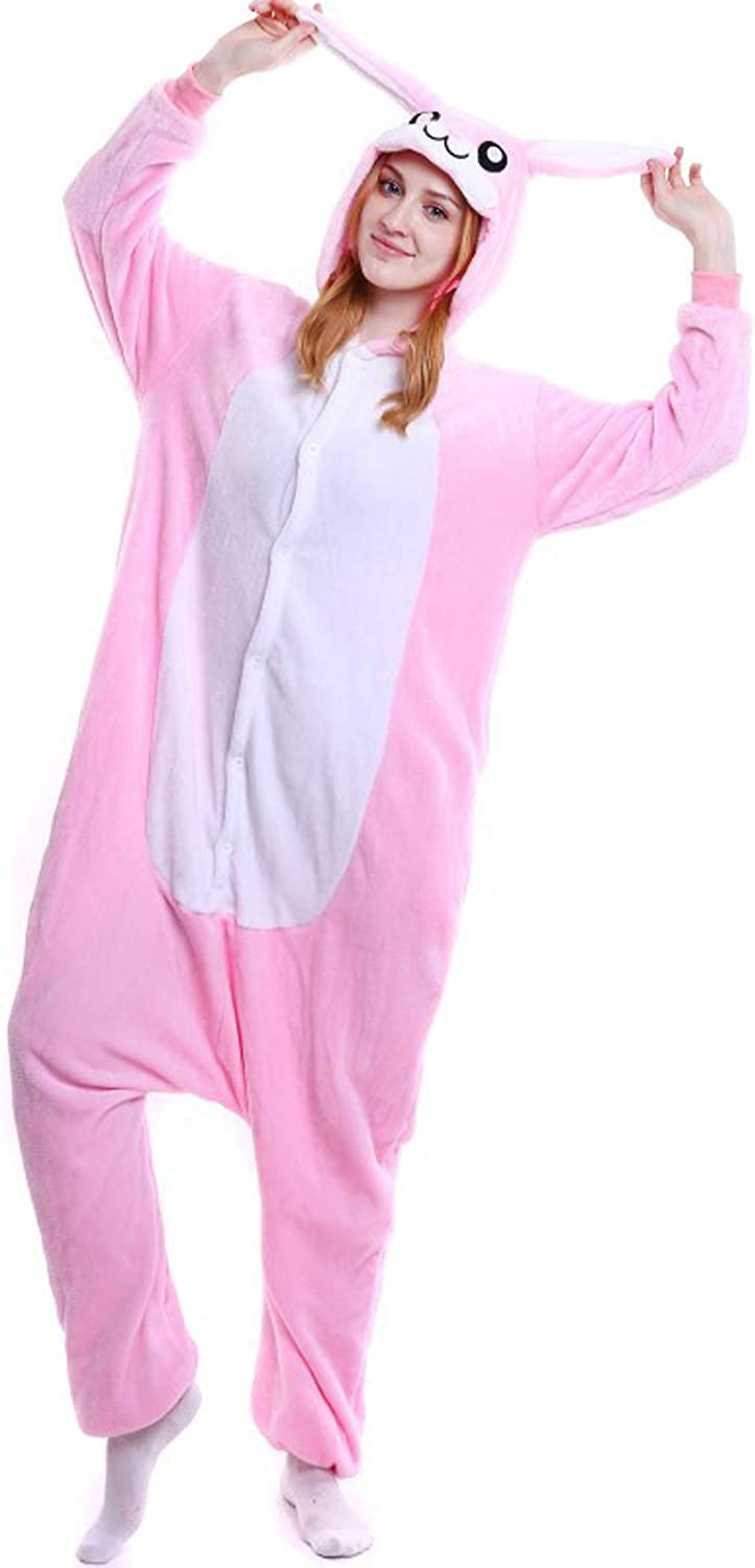 ALOVEY Max 58% OFF Unisex Bunny Onepiece Animal Slee Cosplay Pajamas Outlet sale feature Costume