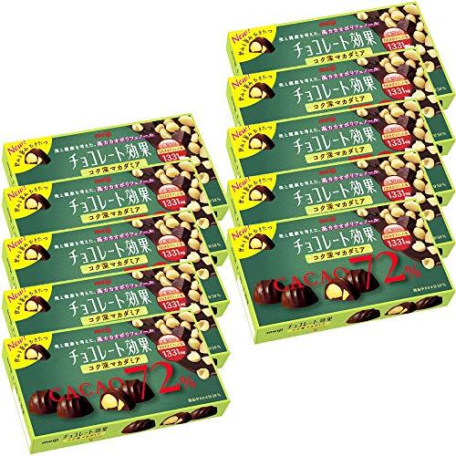 チョコレート効果 カカオ72% コク深マカダミア 10箱