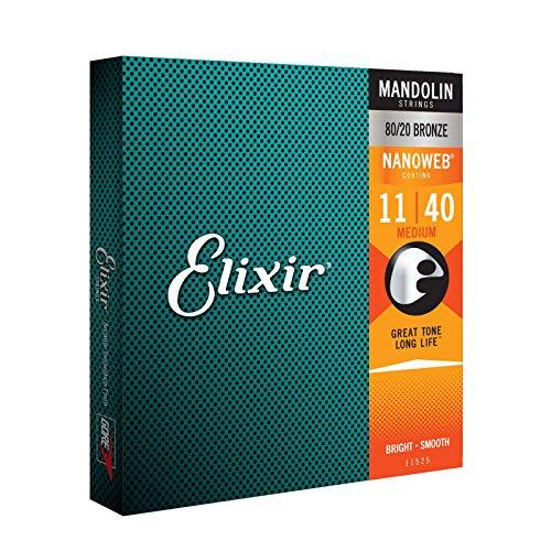 Elixir 11525 Mandolin Saiten Saiten 8 Medium Acoustic Nanoweb Coating