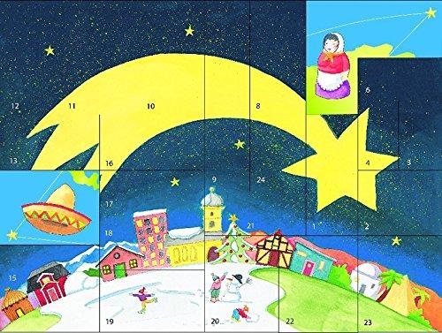 Ein Stern geht um die Welt: Der Fensterbild-Adventskalender mit einer Weihnachtsgeschichte von Pia Biehl