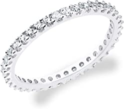 Eternity Wedding Bands 14K Gold .50 CTTW Eternity Stackable Diamond Anniversary Ring