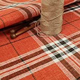 New Furnishing Fabrics Tweed, strukturiertes Karomuster,
