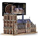 Piececool Puzzle 3D de metal para adultos – Notre Dame Catedral París DIY 3D modelo de metal para adultos, regalo ideal de Navidad para adultos 382 piezas