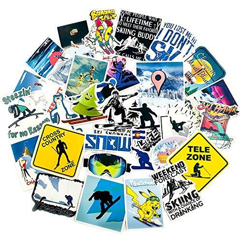 HUIJIA Deportes Moda esquí Pegatina álbum de Recortes Motocicleta esquí Equipaje Ordenador Motocicleta Juguete Maleta Pegatina para niños 70 Uds