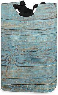 Panier à linge en bois vintage panier grand bac de rangement pour jouets avec poignées pour enfants panier-cadeau tissu im...