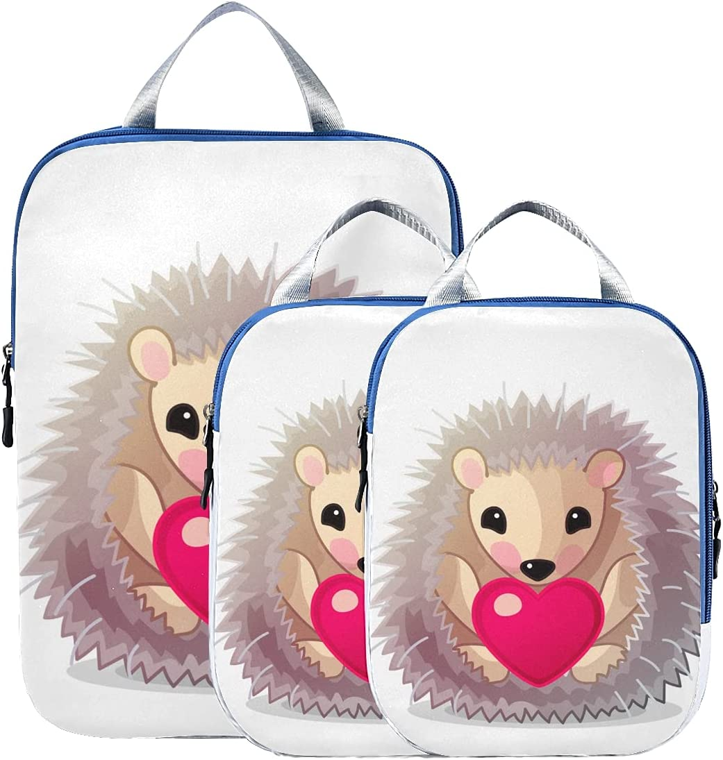 Travel Bag Organizer Set Ranking TOP13 Cute Challenge the lowest price of Japan ☆ Little Animal Cub Hedgehog Packing
