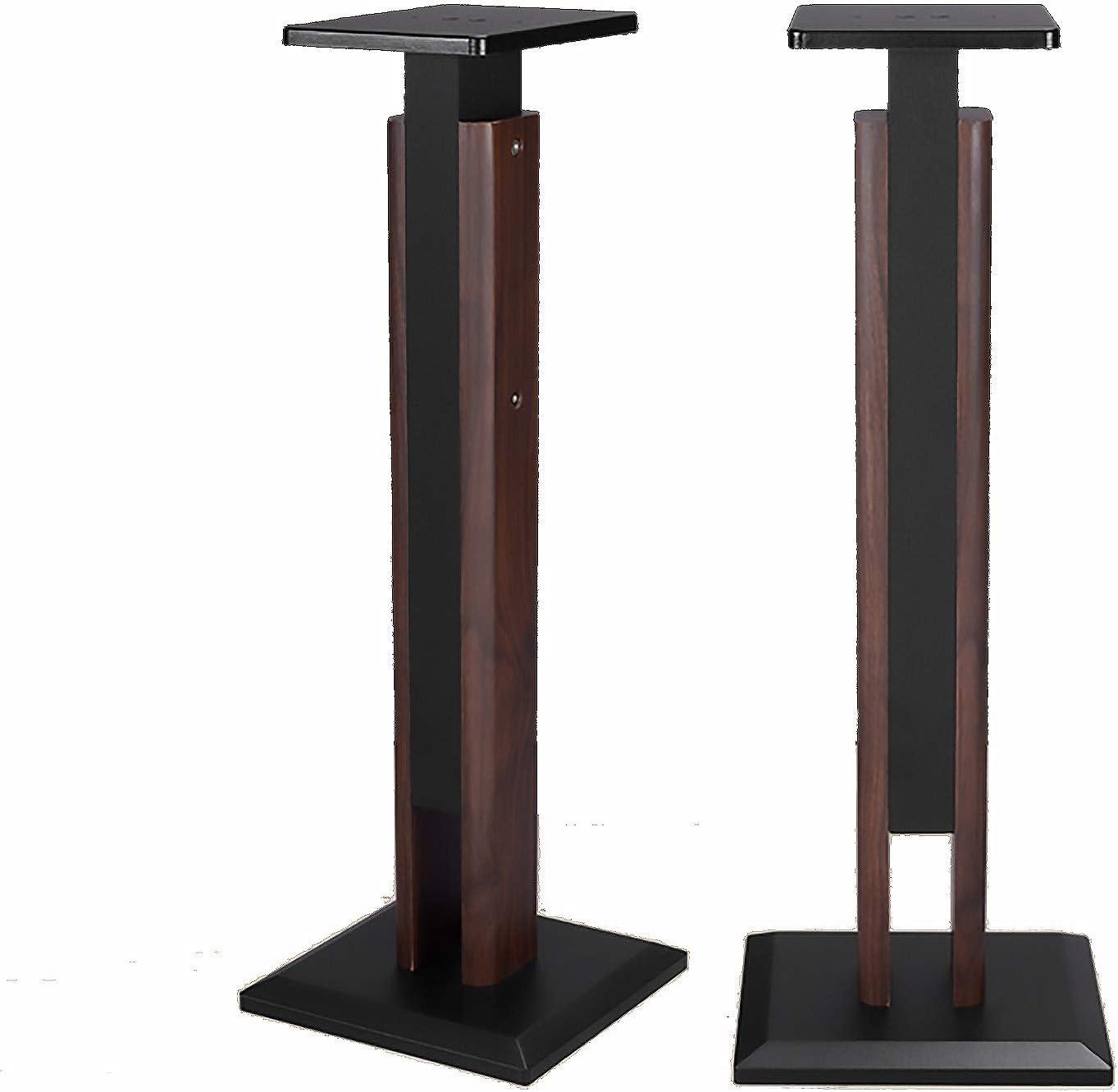 Max 88% OFF BXYXJ Walnut Speaker Stands - Height 65-88cm Adjustment 95-120cm Selling