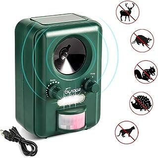 Repelente para gatos, Volador Repelente Ultrasónico de Animales, Batería Solar Impermeable, Sensor de