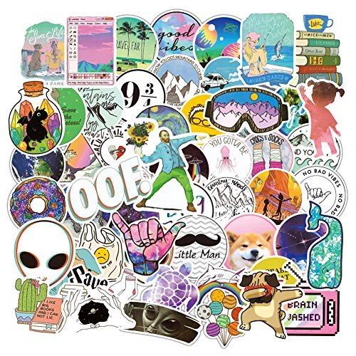103PCS Water Bottle Sticker Pack Mixed Laptop Computer Vinyl Stickers Waterproof Trendy Stickers for Teens Girls Boys for Laptop Stickers Motorcycle Bicycle Skateboard Luggage Phone