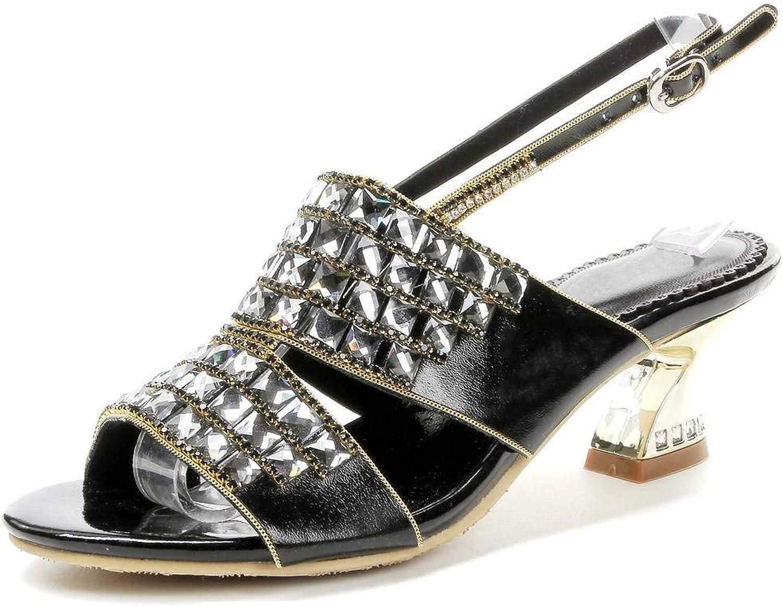 LizForm kvinnor Rhinestone Studded Heeled Sandals Ankle Strap skor skor skor Chunky Kitten klackar  kampanjer