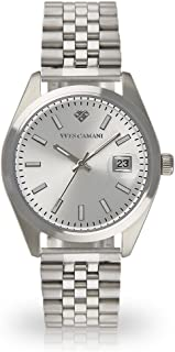 YVES CAMANI Sophie Women's Wrist Watch Quartz Analog Silver Stainless Steel Case Silver Dial