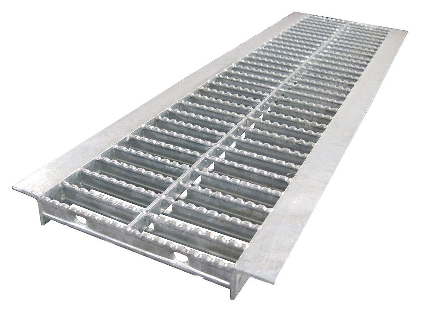 湿原にぎやかコンテンポラリーU字溝用 グレーチング ノンスリップ型 適用みぞ幅450mm (乗用車用) (長さ995mm 幅440mm 高さ32mm) HGUX-450-32
