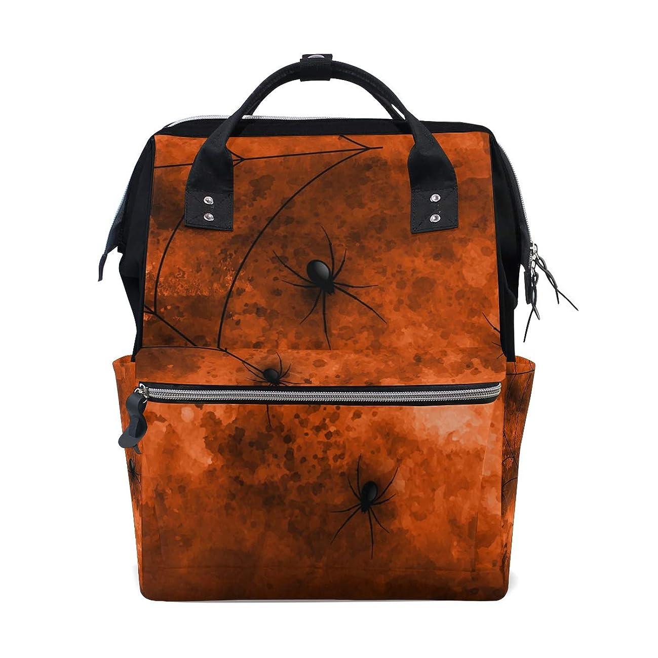 Halloween Spiders School Backpack Large Capacity Mummy Bags Laptop Handbag Casual Travel Rucksack Satchel For Women Men Adult Teen Children