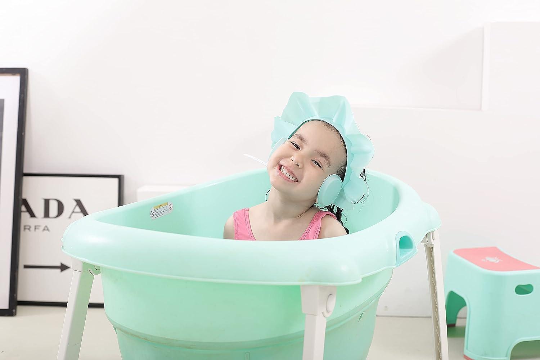 Children's Shower Cap, Baby Shampoo, Shower Cap, Bathing Shade, Shampoo, Shower Cap to Prevent Shampoo from Entering Toddlers, Children, Babies (Blue)