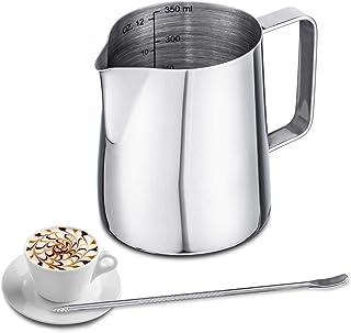 PETSOLA 2pcs Pot /à Lait Cruche en INOX pour Caf/é Mousse de Lait