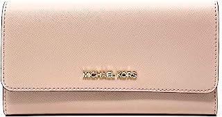 Michael Kors Women's Jet Set Travel Large Trifold Wallet In Powder blush
