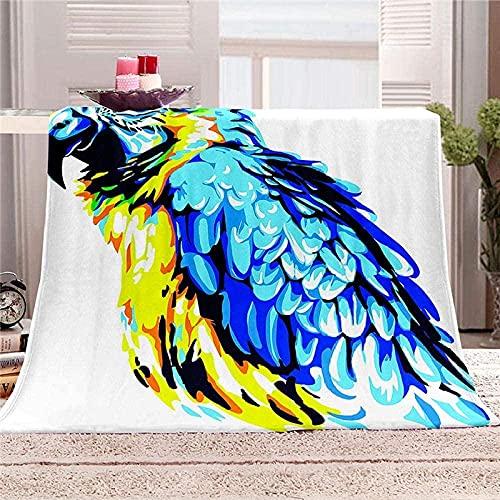 tjxu Kuscheldecke Flanell Mikrofaser Farbiger Adler 3D Gedruckte Decke Fleecedecke Tagesdecke Dicke Sofadecke zweiseitige Decke Sofa und Bett180 X 200 cm