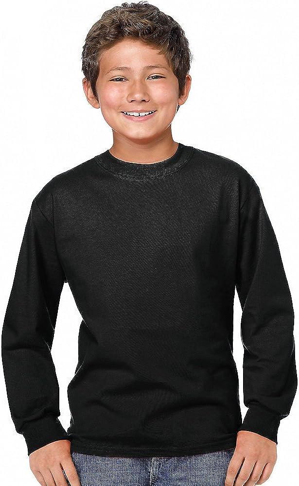 Hanes Boys Youth ComfortSoft Tagless Long-Sleeve T-Shirt(5546)