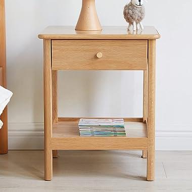 Table HAIZHEN De Chevet Moderne, Nordic Wooden De Nuit Cabinet pour Salon Chambre à Coucher avec Tiroirs Et étagères, 38x35x4