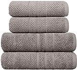 PH Pleasant Home - Juego de 4 piezas, 2 toallas de baño y 2 toallas de mano, 100% algodó...
