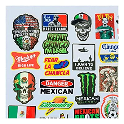 MEXICAN CHINGON Hard Hat Stickers 40 MEXICO HardHat Sticker Pegatinas cascos