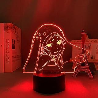 مصباح وهمي ثلاثي الأبعاد مزاج Led ضوء ليلي أنيمي Kakegurui مقامر إلزامي رونا يوموزوكيفور ديكور لغرفة الأطفال Manga-No Remote