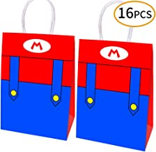 16pcs Super Mario Party Bags Goody Favor Bags For Kids Adults Birthday Party Mario Themed Party Supplies Favors