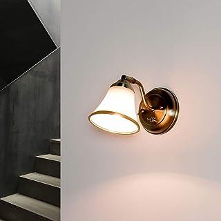 Aplique decorativo de baño giratorio óptico en bronce E14 con luz de espejo art nouveau lámpara de iluminación de pared
