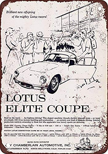 mengliangpu8190 Metal Sign 10' x 14' Aluminum Sign 1959 Lotus Elite Coupe Iron Poster Painting Tin Sign Vintage Wall Decor for Cafe Bar Pub Home Beer Decoration Crafts Retro Vintage Sign