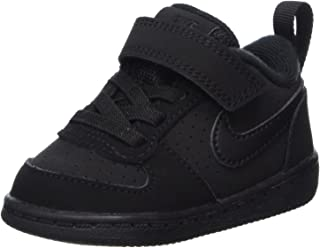 Nike 耐克 COURT BOROUGH 低 (tdv)–运动鞋孩子黑色–黑色/黑色