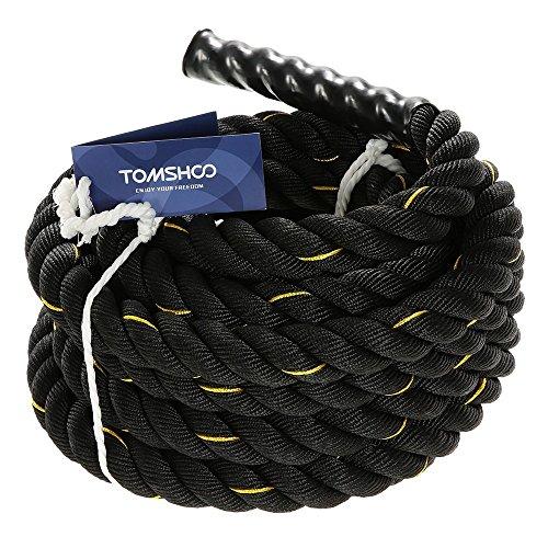TOMSHOO Cuerda de Batalla Cuerda Fitness Formación Ejercicio de Diámetro de 50mm Longitud de 10m/12m/15m (10M)